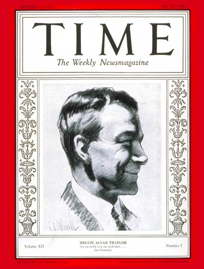 TIME Magazine Cover: Melvin A. Traylor -- July 30, 1928