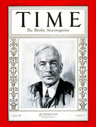 TIME Magazine Cover: James W. Good -- Sep. 24, 1928