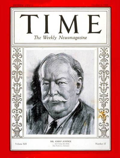 TIME Magazine Cover: William Howard Taft -- Oct. 8, 1928