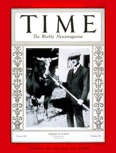 TIME Magazine Cover: Arthur W. Cutten -- Dec. 10, 1928