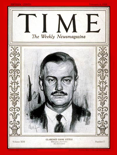 TIME Magazine Cover: Clarence C. Little -- Feb. 4, 1929