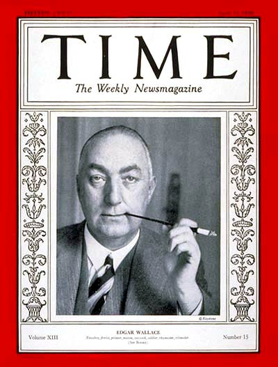 TIME Magazine Cover: Edgar Wallace -- Apr. 15, 1929