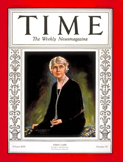 TIME Magazine Cover: Mrs. Herbert Hoover -- May 13, 1929