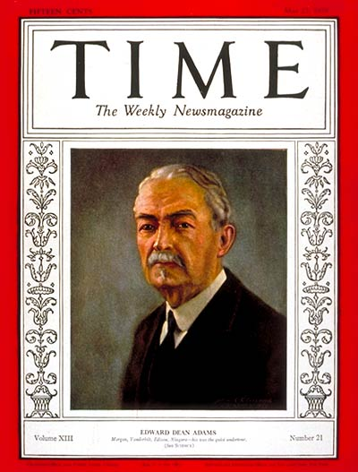 TIME Magazine Cover: Edward Dean Adams -- May 27, 1929