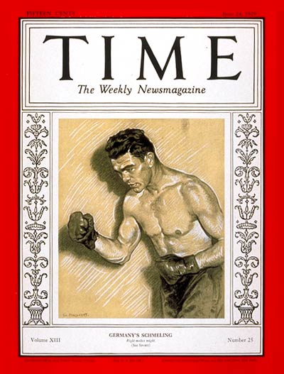 TIME Magazine Cover: Max Schmeling -- June 24, 1929