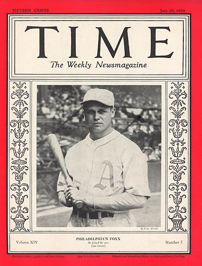 TIME Magazine Cover: Jimmie Foxx -- July 29, 1929