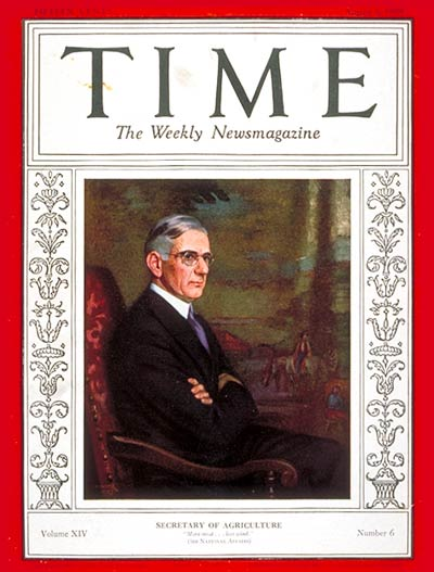 TIME Magazine Cover: Arthur M. Hyde -- Aug. 5, 1929