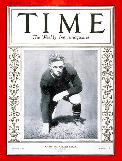 TIME Magazine Cover: Christian K. Cagle -- Sep. 23, 1929