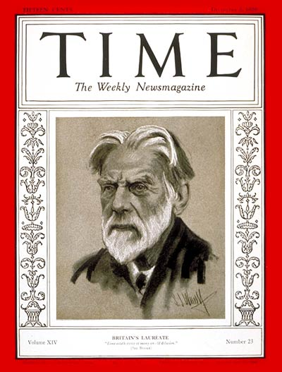 TIME Magazine Cover: Robert Bridges -- Dec. 2, 1929