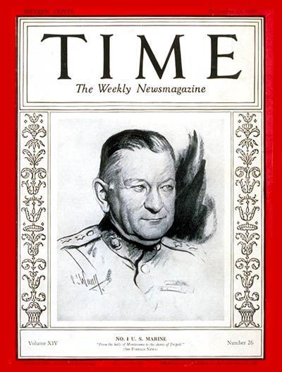 TIME Magazine Cover: Major General Neville -- Dec. 23, 1929