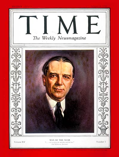TIME Magazine Cover: Owen D. Young, Man of the Year -- Jan. 6, 1930