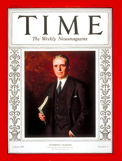 TIME Magazine Cover: William D. Mitchell -- Jan. 27, 1930
