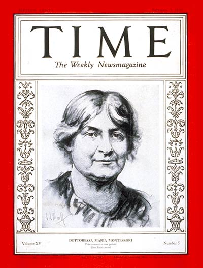 TIME Magazine Cover: Maria Montessori -- Feb. 3, 1930