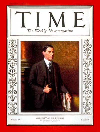 TIME Magazine Cover: Ray Lyman Wilbur -- Feb. 10, 1930