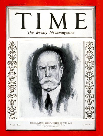 TIME Magazine Cover: Charles E. Hughes -- Feb. 17, 1930