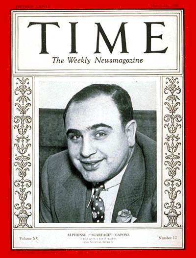 TIME Magazine Cover: Al Capone -- Mar. 24, 1930