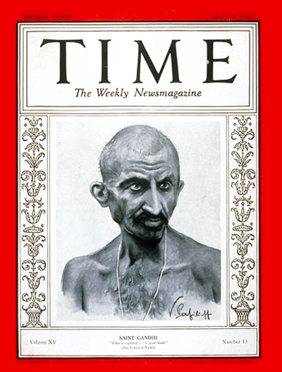TIME Magazine Cover: Mahatma Gandhi -- Mar. 31, 1930