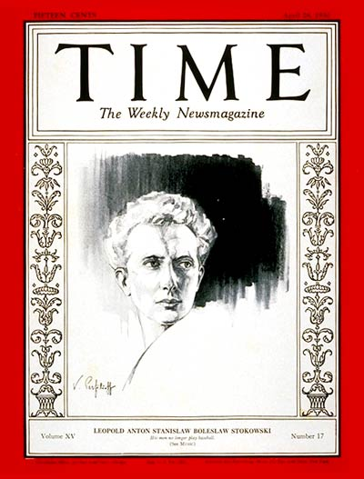 TIME Magazine Cover: Leopold Stokowski -- Apr. 28, 1930