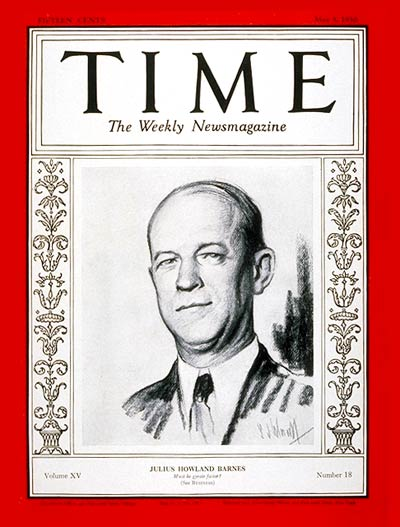 TIME Magazine Cover: Julius H. Barnes -- May 5, 1930