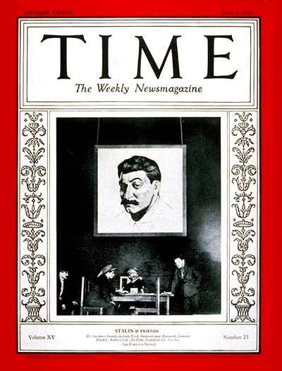 TIME Magazine Cover: Joseph Stalin -- June 9, 1930