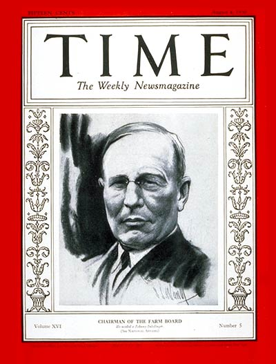 TIME Magazine Cover: Alexander Legge -- Aug. 4, 1930