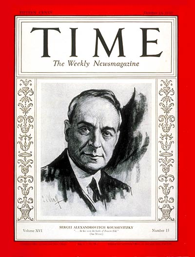 TIME Magazine Cover: Sergei Koussevitsky -- Oct. 13, 1930