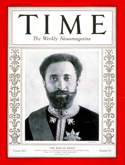 Image result for haile selassie time magazine cover