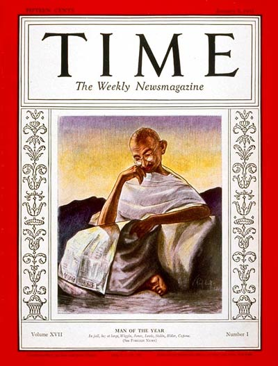 TIME Magazine Cover: Mahatma Gandhi, Man of the Year -- Jan. 5, 1931