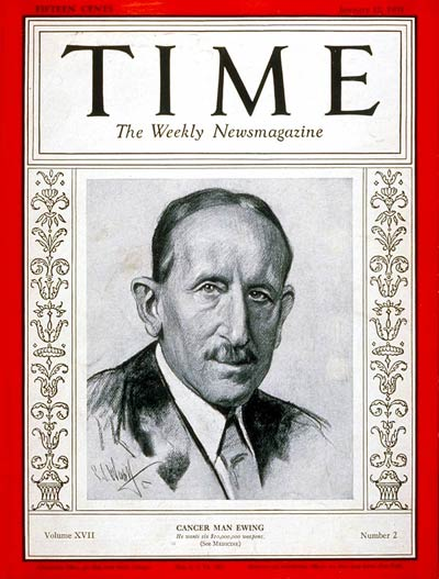 TIME Magazine Cover: Professor James Ewing -- Jan. 12, 1931