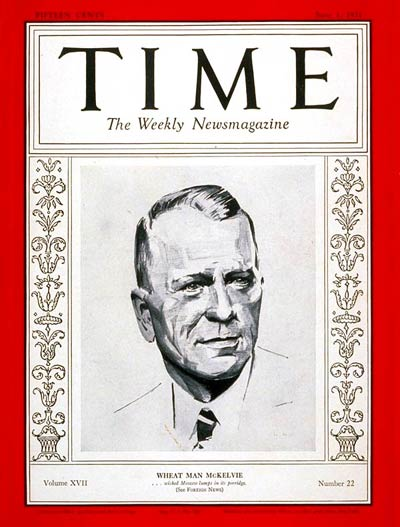 TIME Magazine Cover: Samuel R. McKelvie -- June 1, 1931