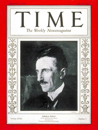 TIME Magazine Cover: Nikola Tesla -- July 20, 1931