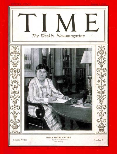 TIME Magazine Cover: Willa S. Cather -- Aug. 3, 1931