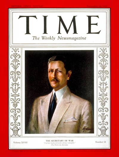 TIME Magazine Cover: Patrick Jay Hurley -- Sep. 14, 1931