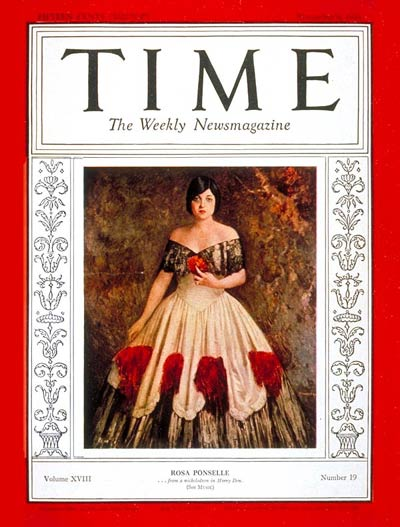 TIME Magazine Cover: Rosa Ponselle -- Nov. 9, 1931