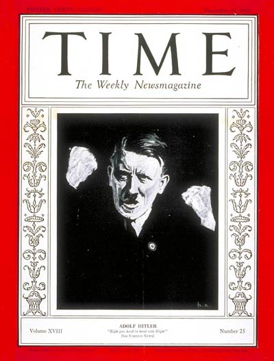 TIME Magazine Cover: Adolf Hitler -- Dec. 21, 1931