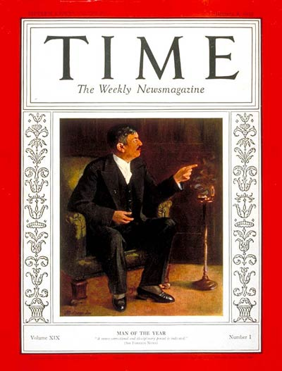 TIME Magazine Cover: Pierre Laval, Man of the Year -- Jan. 4, 1932