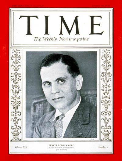 TIME Magazine Cover: Errett L. Cord -- Jan. 18, 1932