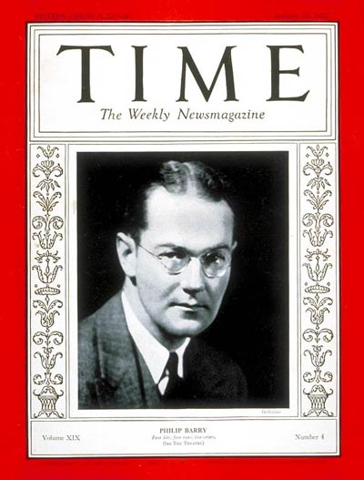 TIME Magazine Cover: Philip Barry -- Jan. 25, 1932