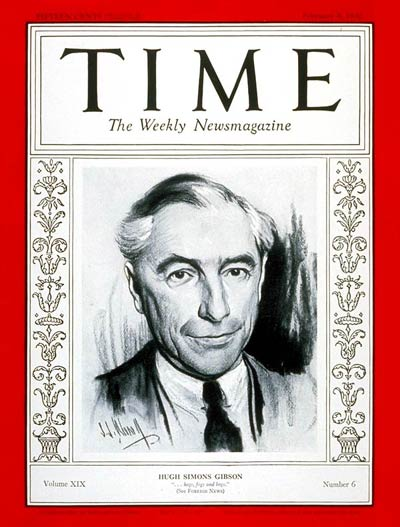 TIME Magazine Cover: Hugh S. Gibson -- Feb. 8, 1932