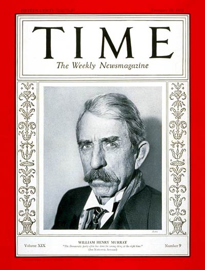 TIME Magazine Cover: Governor William Murray -- Feb. 29, 1932