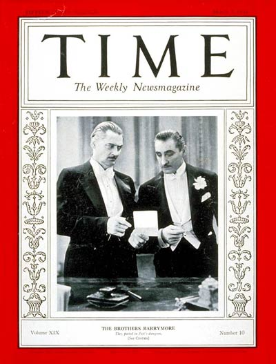 TIME Magazine Cover: Barrymore Brothers -- Mar. 7, 1932