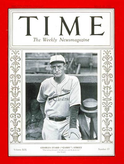 TIME Magazine Cover: Gabby Street -- Mar. 28, 1932