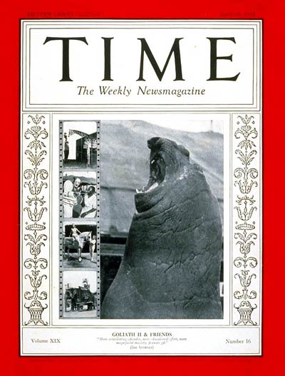 TIME Magazine Cover: The Circus -- Apr. 18, 1932