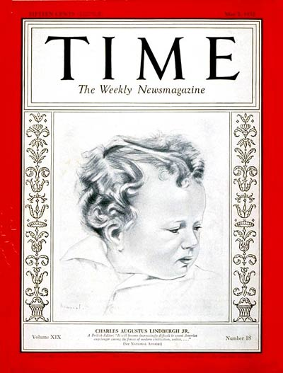 TIME Magazine Cover: Charles A. Lindbergh Jr. -- May 2, 1932