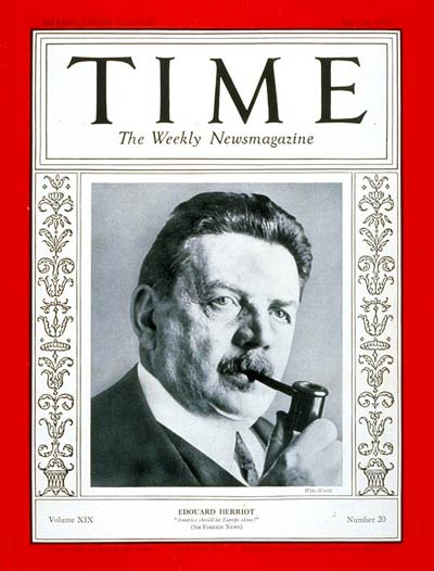 TIME Magazine Cover: Edouard Herriot -- May 16, 1932