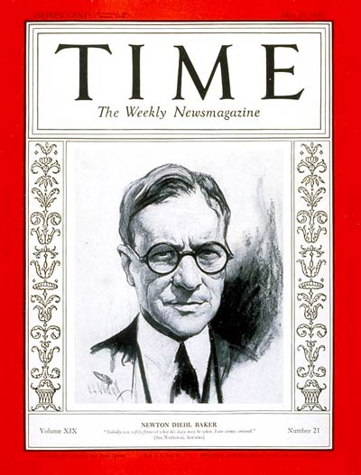 TIME Magazine Cover: Newton D. Baker -- May 23, 1932