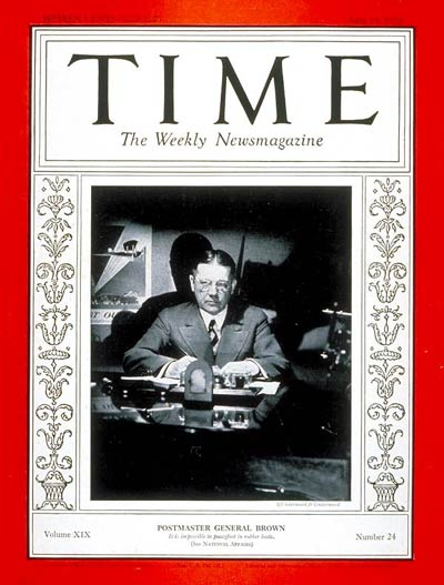 TIME Magazine Cover: Walter F. Brown -- June 13, 1932