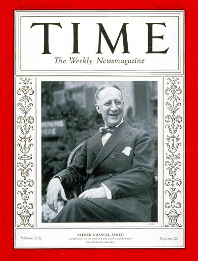TIME Magazine Cover: Alfred E. Smith -- June 27, 1932