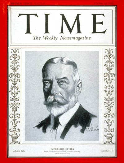 TIME Magazine Cover: King George V -- Oct. 10, 1932