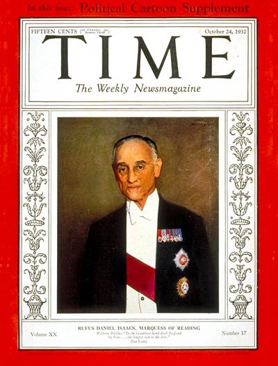 TIME Magazine Cover: Rufus D. Isaacs -- Oct. 24, 1932